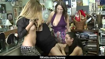 Tight teen fucks a man in front of the camera for cash 24