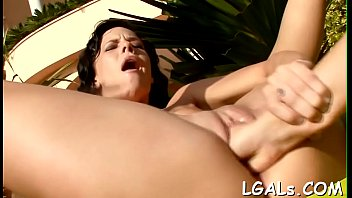 Relax with three nasty lesbo sweethearts spending time jointly