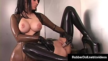 Latex Lesbian RubberDoll Pleases Fuck Friend January Seraph! Thumb