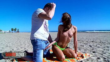 The Italian tourist gets ass fucked at the beach thumbnail
