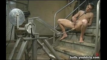 Hot boy loves the machine in his butt