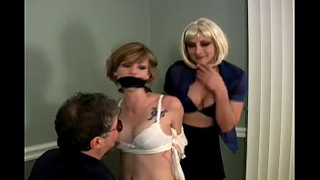Chloe is Bound, Gagged and Groped by a Man and a Woman