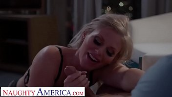 Naughty America Big tit blonde pornstar Casca Akashova takes care of client's sexual needs
