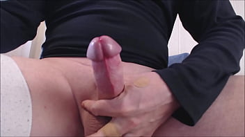 """My solo 153 (Stroking cock and using my toothbrush to cum) <span class=""""duration"""">5 min</span>"""
