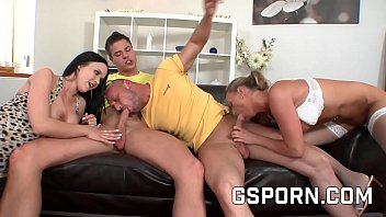 Hot bisexual group sex with two hard cocks and two sluts