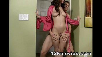 Molly Jane in mom handjob and thighjob