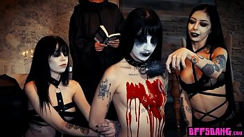 Dark ritual performed around halloween ends in foursome