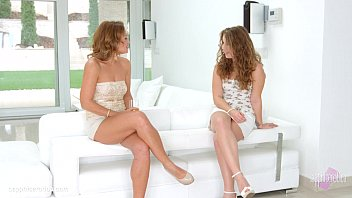 Pre party surprise by Sapphic Erotica - Sylvia Lauren and Bunny Babe lesbians thumbnail