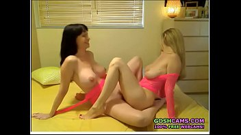 Two extremely hot lesbian soulmates masturbate and fuck until they come together