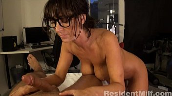 busty milf gives massage and anal