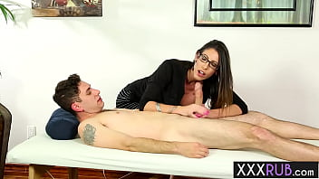Horny massage professional Dava Foxx cant say no to a guys big hard penis