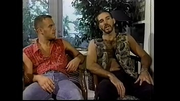 Two lusty hairy salami smugglers Ron Hunter and Jeff Brent enjoy getting their asses polished one after another