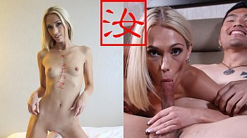 Guys sucking own dick - Blonde slut taste fresh asian dick after breakup with boyfriend - bananafever amwf