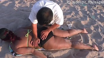 Softcore beach massage
