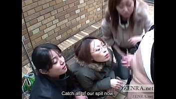 Bizarr japanese fetish Japanese women tease man in public via handjob subtitled
