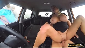Booby Michelle Thorne pounded in the car