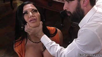 Huge tits Milf anal fucked by robber