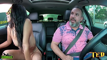 Bruna Casada gets on Ted #105's ride and does everything her husband reprimands 22 min