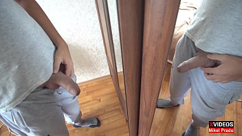 Amateur Young guy Mikel Prado showed dick in front of a mirror - Dick Evolution