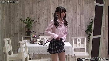 Japanese schoolgirl change uniforms