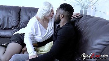 AgedLovE Huge Black Dick and Blonde Mature Chubby 8 min