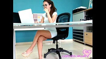 Secretary has fun while working