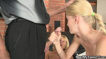 Hot threesome orgy at her birthday