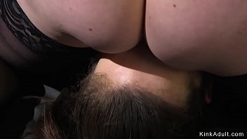 Tied up lesbian anal fucked by busty fucking lezdom kinkadult