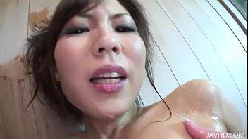 Image: Karen shows her kinky side when she pours oil on her body and toys her pussy