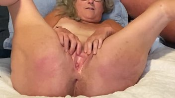 Horny Wife Spreads Her Pussy Lips Wide Fingers And Rubs To Climax mature milf granny