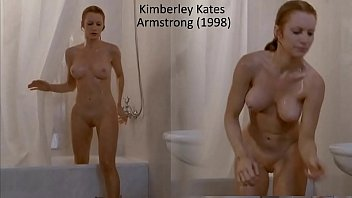 Woman Surprised and her nude shower is interrupted, we get tp see Kimberley Kates Completey nude (full frontal) 0ut of the shower.. very nice indeed.  Things get intesne afterwards.