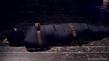Device bondage carter Hot ass slave gets mummified in dungeon