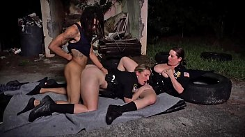 BLACK PATROL - MILF Cops With Big Tits And Thicc Asses Riding Criminal's Big Black Cock