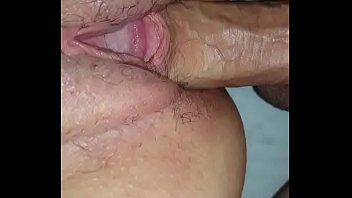 She squirted down her ass, then I gave her a creampie!