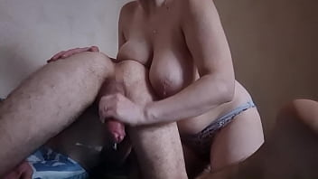 OMG !!! Wife wants to stick her hand in her man's ass while jerking off his dick