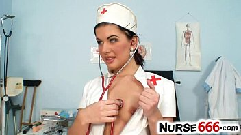 Pornostars rihanna Super sexy nurse rihanna samuel strips off her latex uniform