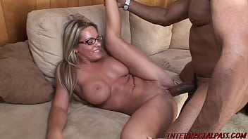 Blackzilla stretches Megan's Coed Pussy with his Monster Black Meat