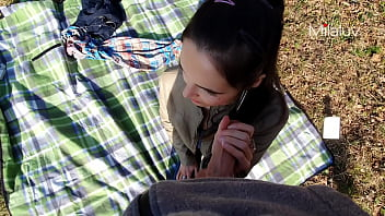 Picnic ends with DEEP CUM inside - Milaluv