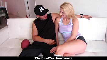 TheRealWorkout - Horny Tight Blonde Wants To Play With Balls