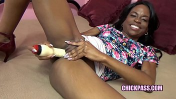 ChickPass - Black housewife Melody Cummings is playing with her dildo