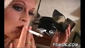 Sex through cloth Inviting bitch in see-through clothes smokin a cigarette