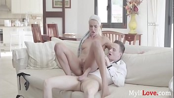 Boss MILF Fucks Her Man Servant- Cherry Kiss thumbnail