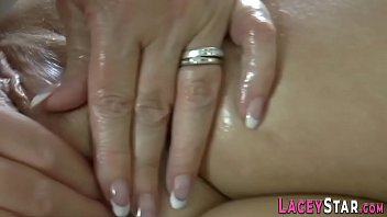 Oiled up busty gran fingers and toys