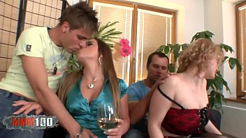 Liane Sweet & Perry in a great bisexual foursome 12 min