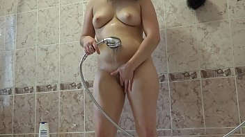 I take a shower and then fuck my ass with a bottle, anal orgasm.