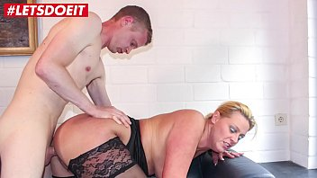Big titted mature doggystyle Letsdoeit - german cougar abuses a young big cock