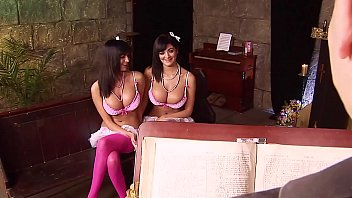 Lesbian twin girls Big titted twin sisters screw each other and the minister in church. busty 3-hole sluts from the uk