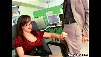 Secretary keeps job by performing sex - Hot secretary gets fucked by her boss