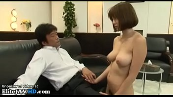 Japanese busty secretary approved by pervert boss