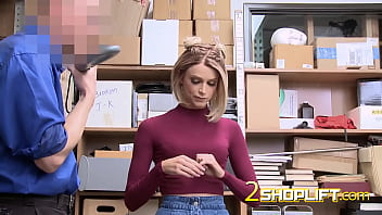 MILF first-timer thief gets caught and fucked by guard